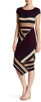 Matty M Stripe Blocked Rib Dress
