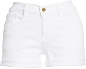 Frame Le Cut Off Mid-Rise Denim Shorts