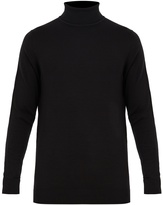 Sunspel Roll-neck wool sweater