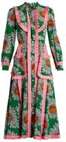 Gucci Daisy-print silk crepe de Chine midi dress