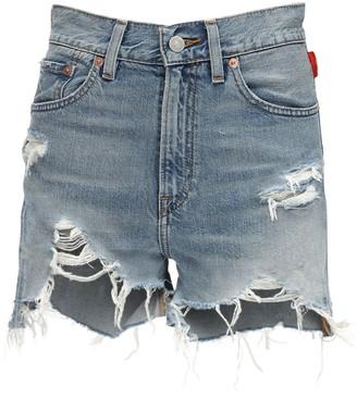 Denimist Nic High Waist Denim Cutoff Shorts