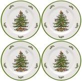 Spode Christmas Tree Melamine Dinner Plates, Set of 4