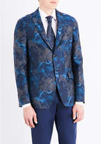 Etro Floral Jacquard Slim-fit Cotton Blazer