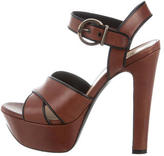 Barbara Bui Leather Crossover Sandals