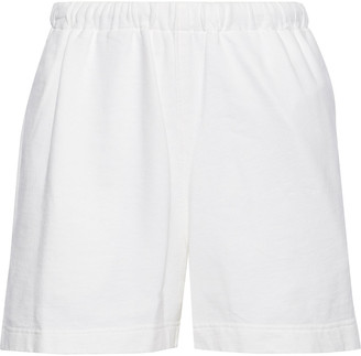 Bassike Canvas-trimmed Organic Cotton-fleece Shorts
