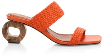 Souliers Martinez Limon Woven Leather Mules
