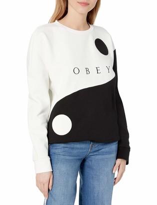 Obey Women's Oversized fit Crew Neck Sweatshirt