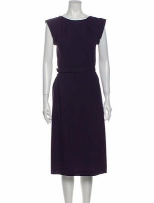 Bottega Veneta Virgin Wool Midi Length Dress Wool