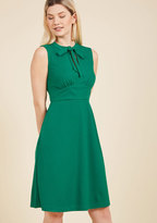 ModCloth Archival Arrival A-Line Dress in Clover in XXS
