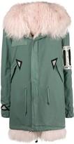 Mr & Mrs Italy crystal embellished parka coat