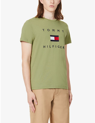 Tommy Hilfiger Logo-embroidered cotton-jersey T-shirt