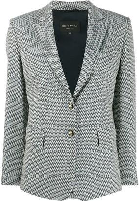Etro geometric-print fitted blazer