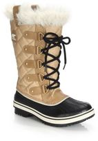 Sorel Tofino Cate Faux Fur-Trimmed Lace-Up Boots