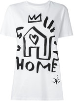 Iceberg home & heart print T-shirt - women - Cotton - 38