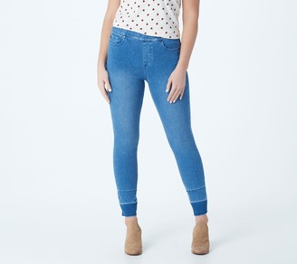 Belle by Kim Gravel Flexibelle Wide Release Hem Jeggings