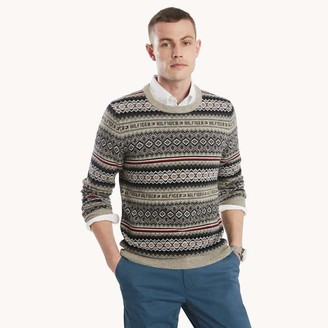 Tommy Hilfiger Men's Fairisle Crew Neck Sweater