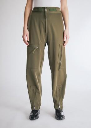 MM6 MAISON MARGIELA Women's Zip Cargo Trouser in Khaki, Size 40