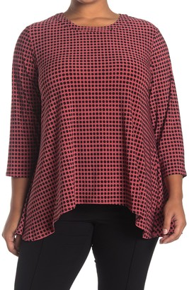 Anne Klein Sharkbite Pearly Dot Swing Top