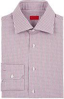 Isaia Men's Gingham Poplin Shirt-RED
