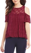 I.N. San Francisco Burnout Plaid Top