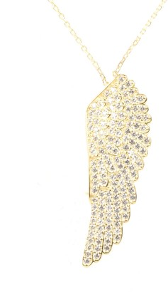 Latelita Large Angel Wing Necklace - Gold