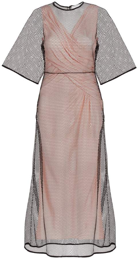Vionnet Net Overlay Dress