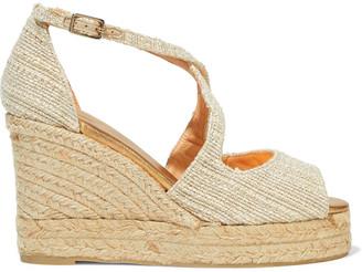 Castaner Bisse Metallic Cotton-tweed Espadrille Wedge Sandals