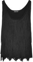 Tom Ford Fringed Stretch-knit Camisole - Black