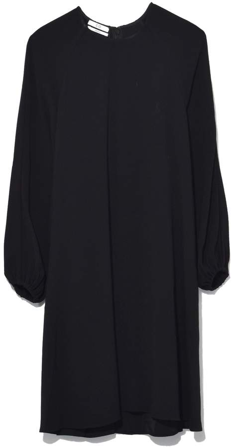 Co Peasant Sleeve Raglan Dress in Black