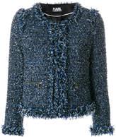 Karl Lagerfeld bouclé fringe jacket
