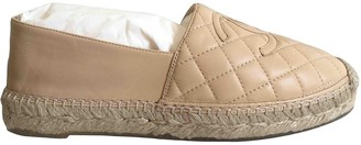 Chanel Beige Leather Espadrilles