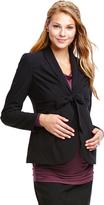 Motherhood Jessica Simpson Tie Front Crepe Maternity Blazer
