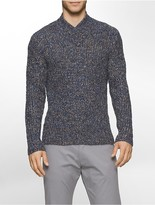 Calvin Klein Space-Dyed Crossover Neck Sweater