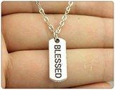 Nobrand No brand fashion simple vintage antique silver color 21*8mm word bar necklace