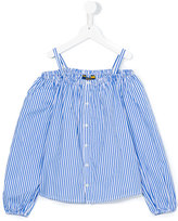 Ralph Lauren striped off the shoulder top - kids - Cotton - 6 yrs
