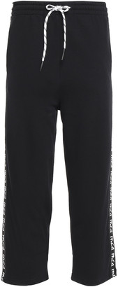 McQ Cropped French Cotton-terry Track Pants