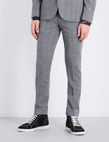 Paul Smith Prince of Wales check slim-fit tapered wool trousers