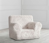Pottery Barn Kids Gray Faux Fur Anywhere Chair