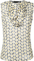Love Moschino daisy print ruffle blouse - women - Viscose - 38
