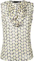 Love Moschino daisy print ruffle blouse - women - Viscose - 38