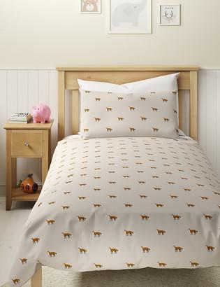 Marks and Spencer Brushed Cotton Fox Bedding Set