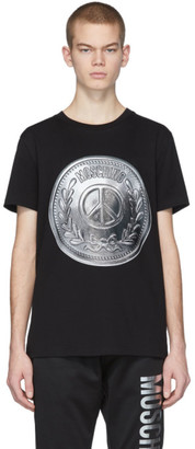 Moschino Black Silver Coin T-Shirt
