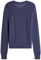 Calvin Klein Collection Cotton and Cashmere Cable Knit Pullover
