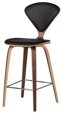 """Design Tree Home Bar & Counter Stool Design Tree Home Upholstery: Black, Seat Height: Counter Stool (26"""" Seat Height)"""