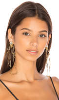 Mercedes Salazar Cacatu Earrings in Metallic Gold.