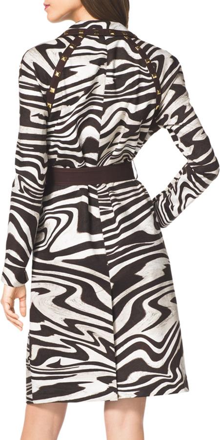 MICHAEL Michael Kors Zebra-Print Trenchcoat