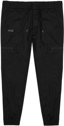 HUGO BOSS Feril Black Stretch-cotton Trousers