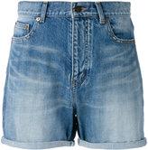 Saint Laurent baggy denim shorts - women - Cotton - 28