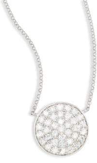 Effy Diamond & 14K White Gold Circle Pendant Necklace