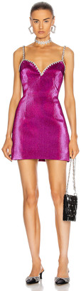 Area Crystal Trim Sweetheart Dress in Fuchsia | FWRD
